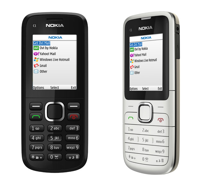 Nokia C1-02 and C1-01