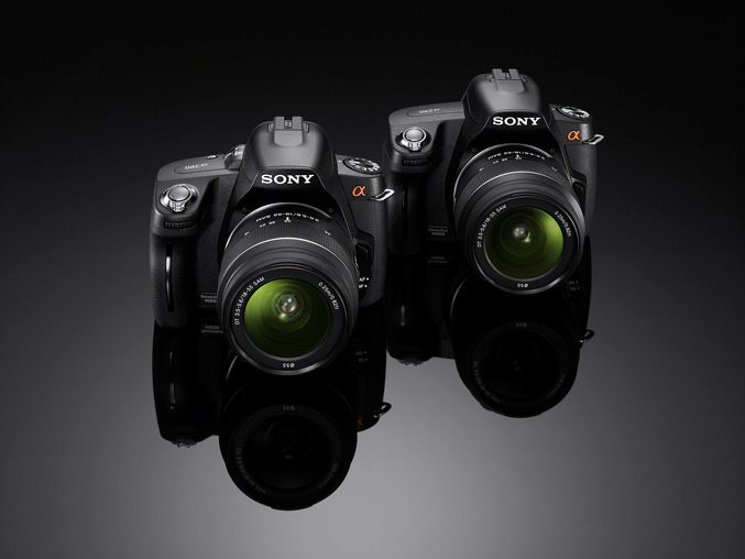 Sony A290 and A390 DSLR