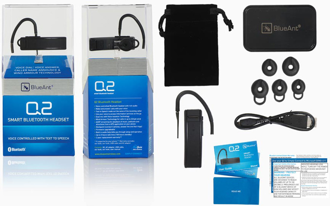 BlueAnt Q2 Bluetooth Headset