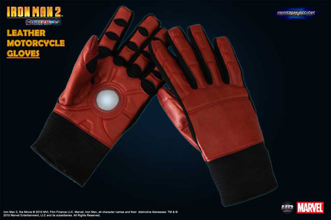 Iron Man motorcycle gloves