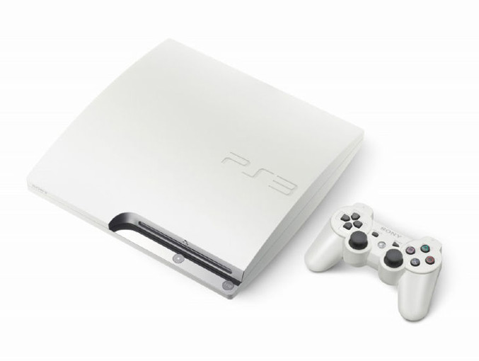 White Playstation3 Slim with 160GB HDD