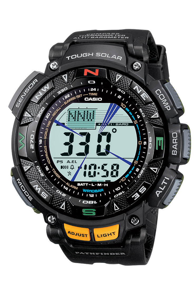 Casio's last Pathfinder line offers Duplex LCD with Solar Triple Sensor Technology