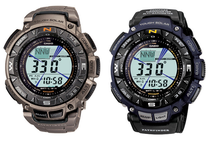 Casio Pathfinder PAG240T-7 and PAG240B-2