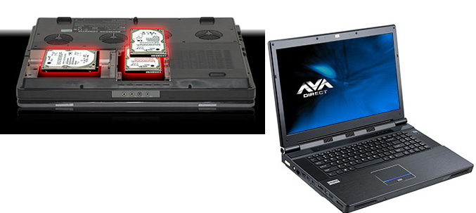 AVADirect Clevo X7200 gaming notebook