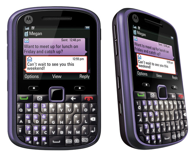 Motorola GRASP QWERTY eco-friendly phone