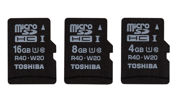 Toshiba announced World's Fastest SDHC Memory Card