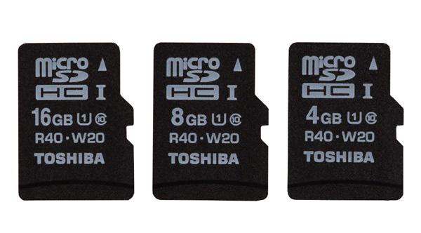 Toshiba microSDHC UHS-I Cards