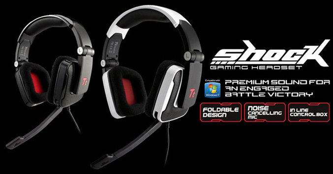 Tt eSports presents Shock gaming headset