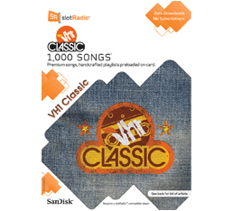 1,000 VH1 classic songs with SlotRadio microSD card