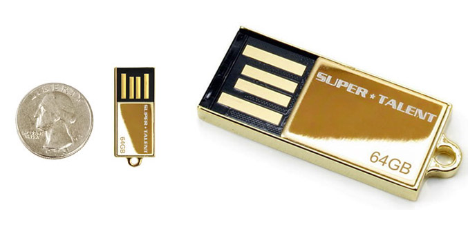 Super Talent Pico C-64GB 24k gold plated USB-drive
