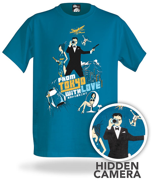 ThinkGeek Electronic Spy Camera Shirt