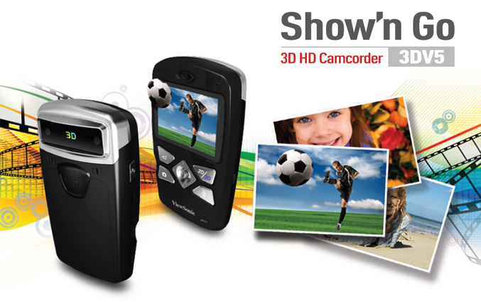 ViewSonic 3DV5 Pocket 3D HD Camcorder