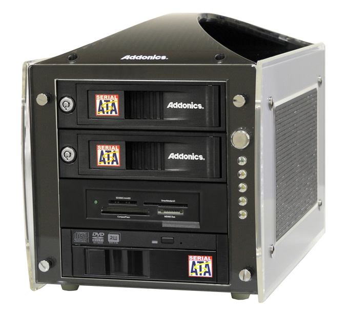 Addonics offers Multi-Media Tower – single enclosure solution for All storage formats