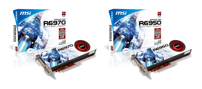 MSI R6970 and 6950 graphics cards