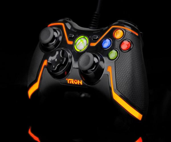 Orange Xbox 360 TRON Controller