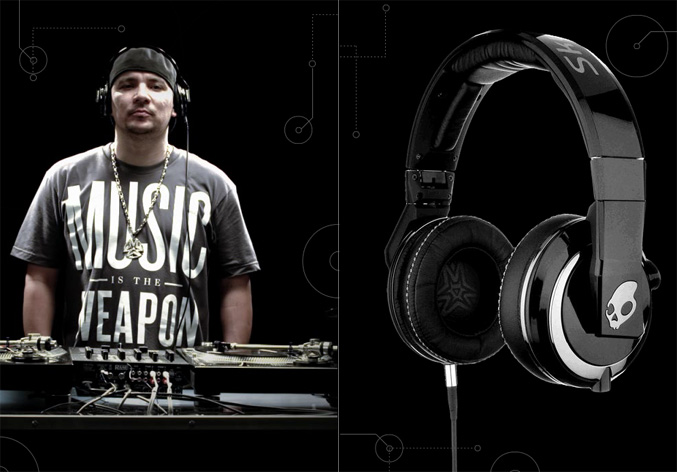 SkullCandy DJ Mix Master Mike Headphones