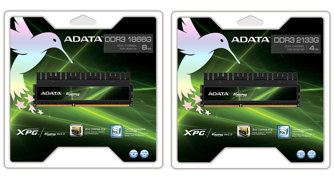 ADATA-DDR3-1866G and 2133G memory kits