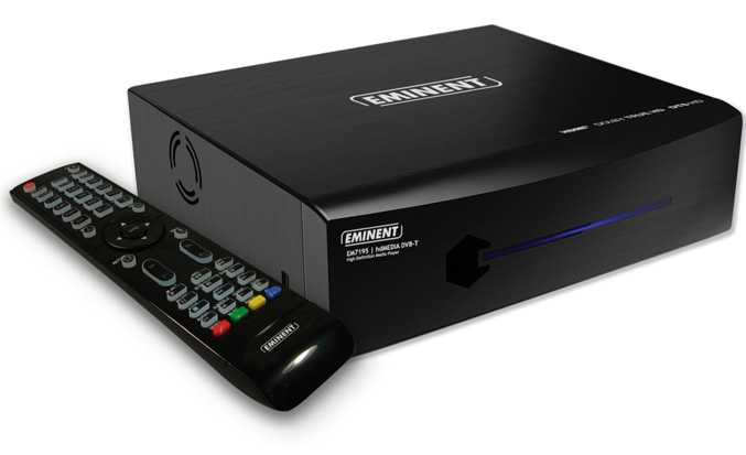 Eminent HD media player EM7195 offers twin DVB-T tuner