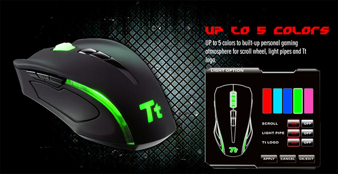 Tt eSPORTS Black Element MMO mouse