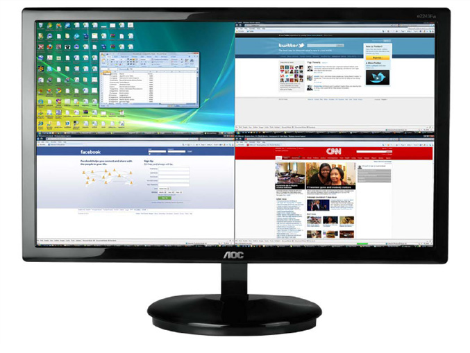 AOC Aire Black LED Monitor