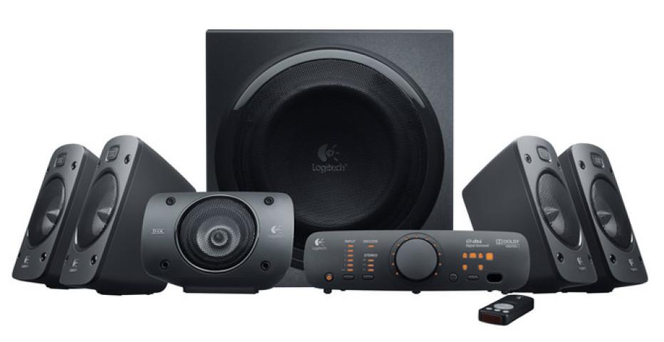 Logitech Surround Sound Speakers Z906 delivers 500W