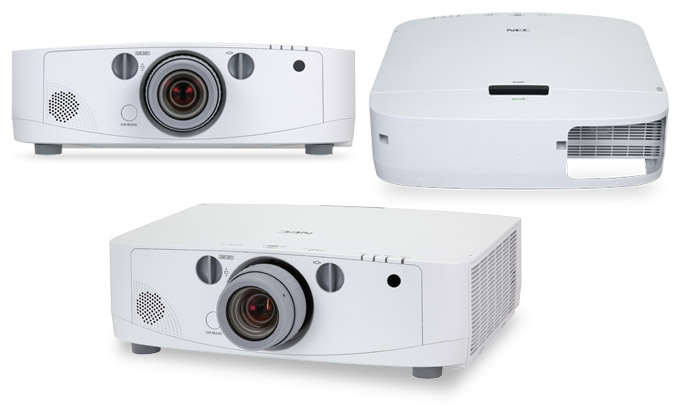 Four new professional projectors from NEC