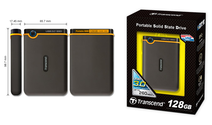 Transcend outs portable SSD18C3 USB 3.0 solid state drives