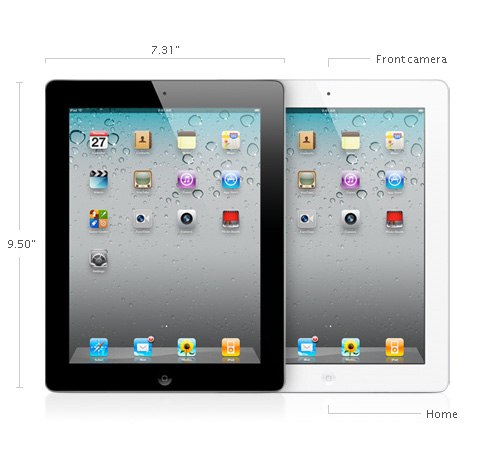 iPad 2 specs 1 iPad 2   thinner, lighter, and faster