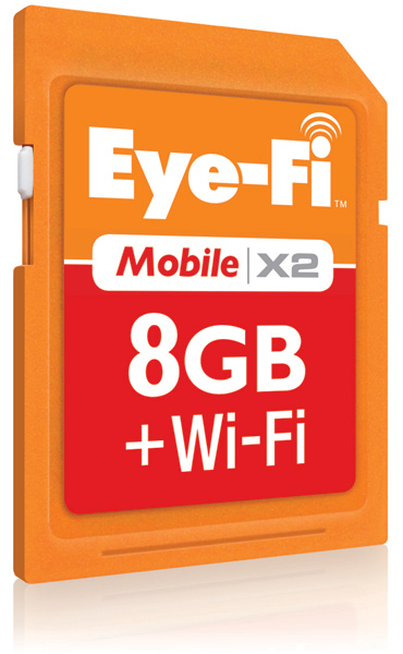 Eye-Fi outs Mobile X2 8GB wireless memory card, releases Direct Mode for iOS and Android