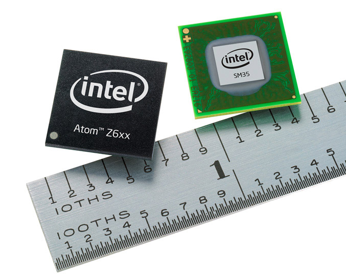 Intel Atom Z670 CPU with Intel SM35 Express chipset