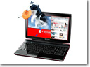 Toshiba dynabook Qosmio T851/D8CR can display 2D and 3D glasses-free on one screen simultaneously 