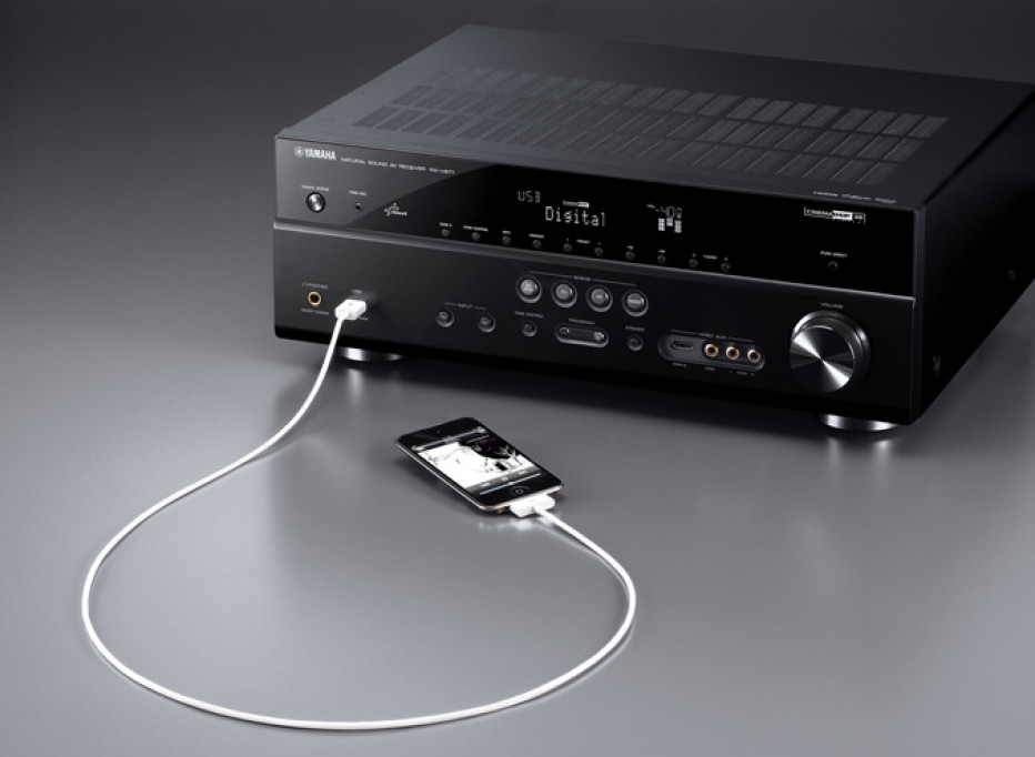 Yamaha'new A/V receivers offer 3D-capablities, networking streaming and Apple integration