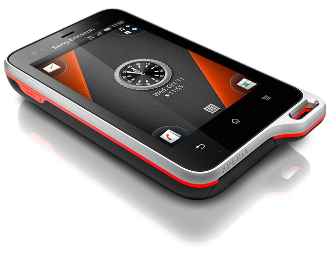 Sony Ericsson Xperia active rugged Android smartphone