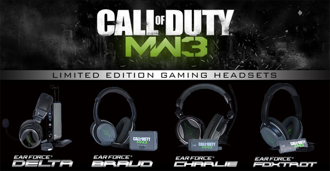 Turtle Beach Lmited Edition Call Of Duty Modern Warfare 3 Headsets