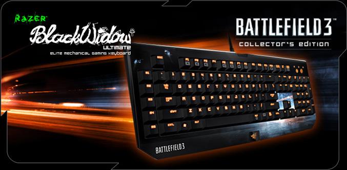 Battlefield 3 Razer BlackWidow Ultimate gaming keyboard