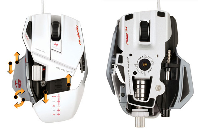 Mad Catz Cyborg R.A.T. Albino Gaming Mouse