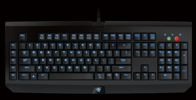 Razer BlackWidow Ultimate Stealth Edition gaming keyboard