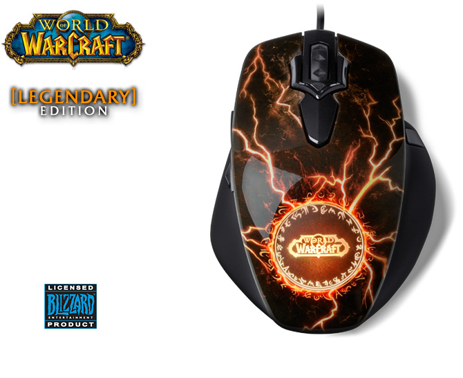 SteelSeries World of Warcraft MMO Gaming Mouse Legendary Edition