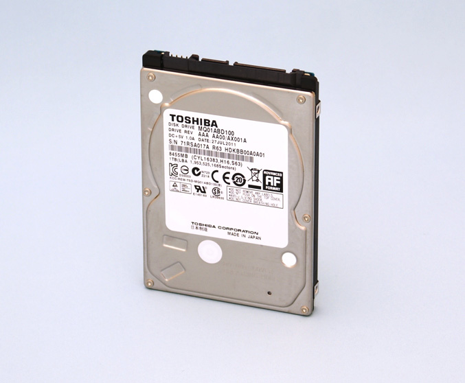 Toshiba introduces 2.5-inch hard drive with 1TB capacity