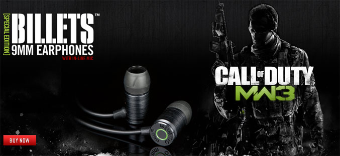 MUNITIO MW3 Billets 9mm earphones