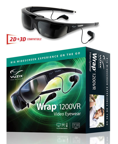 Vuzix Wrap 1200VR sunglass-style video glasses