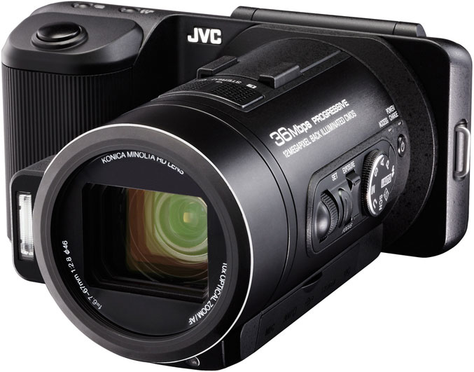 JVC GC-PX10 Hybrid Camera offers 60fps continuous shooting and Full HD video recording