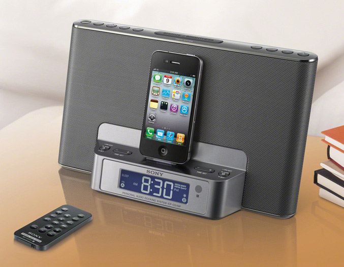 Sony ICF-DS15Ip clock radio dock for iPhone/iPod