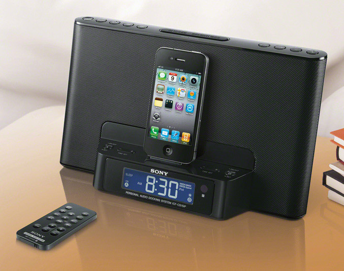 Sony ICF-DS15iP clock radio dock