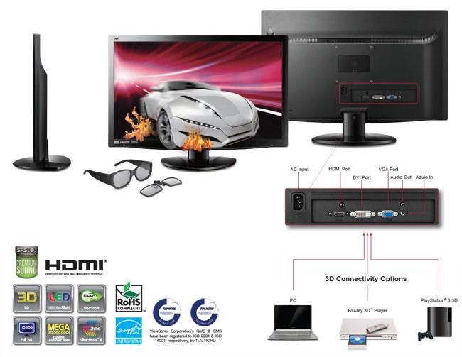 ViewSonic V3D231 Monitor