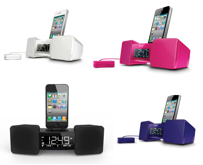 iLuv iMM155 Vibro II iPhone/iPod Alarm Clock Docking Station
