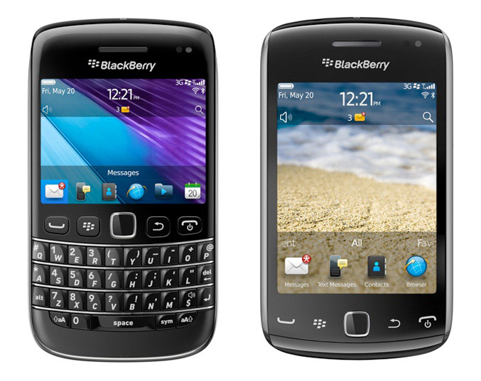 Blackberry Bold 9790 and Blackberry Curve 9380