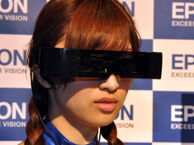 Epson Moverio see-through 3D head mounted display