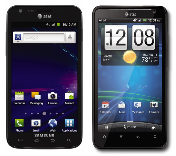 HTC Vivid and Samsung Galaxy II Skyrocket
