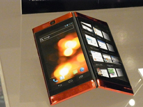 NEC dual screen smartphone